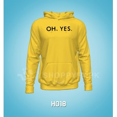 Yellow Oh Yes Logo Hoodie For Men
