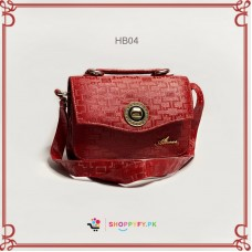 Fancy Texture Red Hand Bag for Women