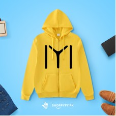 Yellow Abstract Hoodie