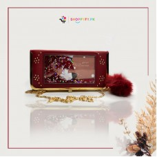 Red Glitter Chain Clutch for Girls