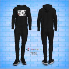 Everybody Smile Black Top Quality Winter Tracksuit For Men