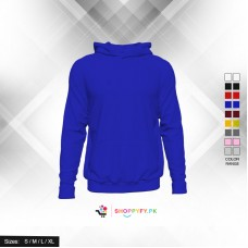 Classic Plain Blue Pullover Hoodie
