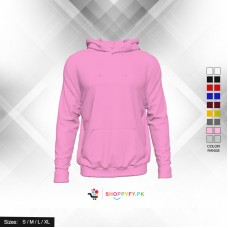 Classic Plain Pink Pullover Hoodie