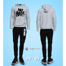 No Days Off Grey Winter Tracksuit For Men